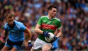 10 August 2019; Matthew Ruane of Mayo in action against Jonny Cooper of Dublin during the GAA Football All-Ireland Senior Championship Semi-Final match between Dublin and Mayo at Croke Park in Dublin. Photo by Sam Barnes/Sportsfile
