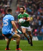 10 August 2019; Tom Parsons of Mayo in action against Eoin Murchan of Dublin during the GAA Football All-Ireland Senior Championship Semi-Final match between Dublin and Mayo at Croke Park in Dublin. Photo by Sam Barnes/Sportsfile
