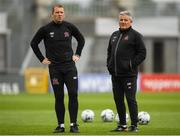 12 August 2019; Dundalk head coach Vinny Perth, left, and Dundalk first team coach John Gill during a Dundalk training session at Tallaght Stadium in Tallaght, Dublin. Photo by Eóin Noonan/Sportsfile