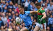 10 August 2019; Con O'Callaghan of Dublin in action against Lee Keegan of Mayo during the GAA Football All-Ireland Senior Championship Semi-Final match between Dublin and Mayo at Croke Park in Dublin. Photo by Sam Barnes/Sportsfile