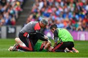 10 August 2019; Colm Boyle of Mayo receieves medical attention during the GAA Football All-Ireland Senior Championship Semi-Final match between Dublin and Mayo at Croke Park in Dublin. Photo by Sam Barnes/Sportsfile