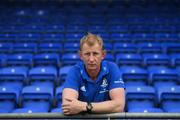 12 August 2019; Leinster head coach Leo Cullen poses for a portrait during the Leinster Rugby Head Coaches' Preview Event at Energia Park in Donnybrook, Dublin. Photo by Ramsey Cardy/Sportsfile *** NO REPRODUCTION FEE ***