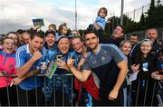 12 August 2019; Bernard Brogan of Dublin poses for a picture with fans during a meet and greet at Parnell Park in Dublin. Photo by David Fitzgerald/Sportsfile