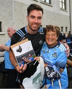 12 August 2019; Michael Darragh MacAuley of Dublin poses for a picture with Agnes Freeman from Gorey, Co Wexford during a meet and greet at Parnell Park in Dublin. Photo by David Fitzgerald/Sportsfile