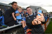 12 August 2019; Philip McMahon of Dublin takes a selfie with supporters Kevin Birrane and his son Caoimhín, age 4, from Mount Merrion, Co Dublin during a meet and greet at Parnell Park in Dublin. Photo by David Fitzgerald/Sportsfile