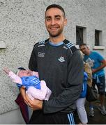 12 August 2019; James McCarthy of Dublin with Ailbhe Morgan, age 4 weeks from Co Dublin during a meet and greet at Parnell Park in Dublin. Photo by David Fitzgerald/Sportsfile