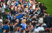 12 August 2019; Dublin players sign autographs during a meet and greet at Parnell Park in Dublin. Photo by David Fitzgerald/Sportsfile