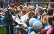 12 August 2019; Dean Rock of Dublin signs autographs during a meet and greet at Parnell Park in Dublin. Photo by David Fitzgerald/Sportsfile