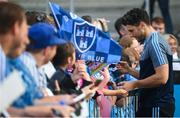 12 August 2019; Bernard Brogan of Dublin signs autographs during a meet and greet at Parnell Park in Dublin. Photo by David Fitzgerald/Sportsfile