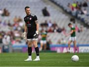 11 August 2019; Niall Morgan of Tyrone prepares to kick a '45' during the GAA Football All-Ireland Senior Championship Semi-Final match between Kerry and Tyrone at Croke Park in Dublin. Photo by Ray McManus/Sportsfile