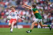 11 August 2019; Conor Bodkin, St. Patricks PS, Tuam, Galway, representing Tyrone, during the INTO Cumann na mBunscol GAA Respect Exhibition Go Games at half-time of the GAA Football All-Ireland Senior Championship Semi-Final match between Kerry and Tyrone at Croke Park in Dublin. Photo by Stephen McCarthy/Sportsfile