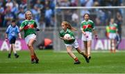 10 August 2019; Shelly Ryan, Ballyporeen NS, Cahir, Tipperary, representing Mayo, during the INTO Cumann na mBunscol GAA Respect Exhibition Go Games during the GAA Football All-Ireland Senior Championship Semi-Final match between Dublin and Mayo at Croke Park in Dublin. Photo by Piaras Ó Mídheach/Sportsfile