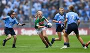 10 August 2019; Lilly Murray, Ballymurray NS, Ballymurray, Roscommon, representing Mayo, during the INTO Cumann na mBunscol GAA Respect Exhibition Go Games during the GAA Football All-Ireland Senior Championship Semi-Final match between Dublin and Mayo at Croke Park in Dublin. Photo by Piaras Ó Mídheach/Sportsfile