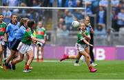 10 August 2019; Ava Connolly, Rathgormack NS, Rathgormack, Waterford, representing Mayo, during the INTO Cumann na mBunscol GAA Respect Exhibition Go Games during the GAA Football All-Ireland Senior Championship Semi-Final match between Dublin and Mayo at Croke Park in Dublin. Photo by Piaras Ó Mídheach/Sportsfile
