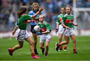 10 August 2019; Caoimhe Gollogly, Our Lady's & St. Mochua's PS, Derrynoose, Armagh, representing Mayo, during the INTO Cumann na mBunscol GAA Respect Exhibition Go Games during the GAA Football All-Ireland Senior Championship Semi-Final match between Dublin and Mayo at Croke Park in Dublin. Photo by Piaras Ó Mídheach/Sportsfile