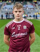 11 August 2019; Galway captain Jonathan McGrath before the Electric Ireland GAA Football All-Ireland Minor Championship Semi-Final match between Kerry and Galway at Croke Park in Dublin. Photo by Piaras Ó Mídheach/Sportsfile