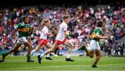 11 August 2019; Shane Mullarkey, Ballyroan Boys NS, Rathfarnham, Dublin, representing Tyrone, during the INTO Cumann na mBunscol GAA Respect Exhibition Go Games at half-time of the GAA Football All-Ireland Senior Championship Semi-Final match between Kerry and Tyrone at Croke Park in Dublin. Photo by Stephen McCarthy/Sportsfile