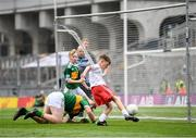 11 August 2019; Daniel Carr, St Patrick's, Mayobridge, Newry, Down, representing Tyrone, scores a goal during the INTO Cumann na mBunscol GAA Respect Exhibition Go Games at half-time of the GAA Football All-Ireland Senior Championship Semi-Final match between Kerry and Tyrone at Croke Park in Dublin. Photo by Stephen McCarthy/Sportsfile