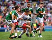 11 August 2019; Turlough Carr, St Francis, Barnesmore, Donegal Town, Donegal, representing Tyrone, during the INTO Cumann na mBunscol GAA Respect Exhibition Go Games at half-time of the GAA Football All-Ireland Senior Championship Semi-Final match between Kerry and Tyrone at Croke Park in Dublin. Photo by Stephen McCarthy/Sportsfile