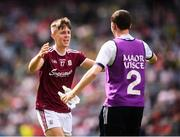 11 August 2019; James Webb of Galway celebrates following the Electric Ireland GAA Football All-Ireland Minor Championship Semi-Final match between Kerry and Galway at Croke Park in Dublin. Photo by Stephen McCarthy/Sportsfile