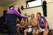13 August 2019; Former Wexford all-Ireland winning manager Liam Griffin with Wexford player Liam Og McGovern and former Wexford players Martin Storey and Larry O'Gorman before the start of the eighth annual Hurling for Cancer Research, a celebrity hurling match in aid of the Irish Cancer Society in St Conleth's Park, Newbridge. The event, organised by legendary racehorse trainer Jim Bolger and National Hunt jockey Davy Russell, has raised €830,000 to date to fund the Irish Cancer Society's innovative cancer research projects. The final score was: Jim Bolger's Best: 15, Davy Russell's Stars 15. St Conleth's Park, Newbridge, Co Kildare. Photo by Matt Browne/Sportsfile