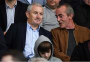 13 August 2019; Former Cork City manager John Caulfield, left, in attendance prior to the UEFA Europa League 3rd Qualifying Round 2nd Leg match between Dundalk and SK Slovan Bratislava at Tallaght Stadium in Tallaght, Dublin. Photo by Stephen McCarthy/Sportsfile