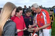 13 August 2019; Ruby Walsh of team Davy Russell signs autographs for supporters after the eighth annual Hurling for Cancer Research, a celebrity hurling match in aid of the Irish Cancer Society in St Conleth's Park, Newbridge. The event, organised by legendary racehorse trainer Jim Bolger and National Hunt jockey Davy Russell, has raised €830,000 to date to fund the Irish Cancer Society's innovative cancer research projects. The final score was: Jim Bolger's Best: 15, Davy Russell's Stars 15. St Conleth's Park, Newbridge, Co Kildare. Photo by Matt Browne/Sportsfile