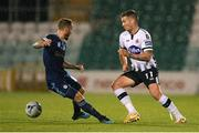 13 August 2019; Patrick McEleney of Dundalk in action against Joeri de Kamps of SK Slovan Bratislava during the UEFA Europa League 3rd Qualifying Round 2nd Leg match between Dundalk and SK Slovan Bratislava at Tallaght Stadium in Tallaght, Dublin. Photo by Eóin Noonan/Sportsfile