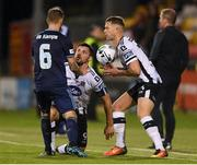 13 August 2019; Patrick Hoban of Dundalk has a coming together with Joeri de Kamps of Slovan Bratislava during the UEFA Europa League 3rd Qualifying Round 2nd Leg match between Dundalk and SK Slovan Bratislava at Tallaght Stadium in Tallaght, Dublin. Photo by Eóin Noonan/Sportsfile