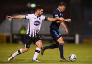 13 August 2019; Vasil Bozhikov of Slovan Bratislava in action against Patrick Hoban of Dundalk during the UEFA Europa League 3rd Qualifying Round 2nd Leg match between Dundalk and SK Slovan Bratislava at Tallaght Stadium in Tallaght, Dublin. Photo by Stephen McCarthy/Sportsfile