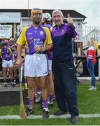 13 August 2019; Larry O'Gorman and Liam Griffin of team Jim Bolger before the eighth annual Hurling for Cancer Research, a celebrity hurling match in aid of the Irish Cancer Society in St Conleth's Park, Newbridge. The event, organised by legendary racehorse trainer Jim Bolger and National Hunt jockey Davy Russell, has raised €830,000 to date to fund the Irish Cancer Society's innovative cancer research projects. The final score was: Jim Bolger's Best: 15, Davy Russell's Stars 15. St Conleth's Park, Newbridge, Co Kildare. Photo by Matt Browne/Sportsfile