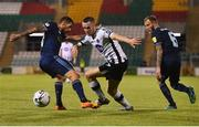 13 August 2019; Michael Duffy of Dundalk in action against Erik Daniel of Slovan Bratislava during the UEFA Europa League 3rd Qualifying Round 2nd Leg match between Dundalk and SK Slovan Bratislava at Tallaght Stadium in Tallaght, Dublin. Photo by Eóin Noonan/Sportsfile