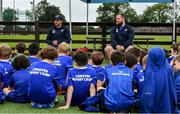 14 August 2019; Leinster players Fergus McFadden and Michael Bent with participants during the Bank of Ireland Leinster Rugby Summer Camp in Ashbourne Rugby Club. Photo by Piaras Ó Mídheach/Sportsfile