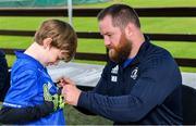 14 August 2019; Leinster player Michael Bent with a participant during the Bank of Ireland Leinster Rugby Summer Camp in Ashbourne Rugby Club. Photo by Piaras Ó Mídheach/Sportsfile
