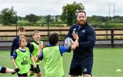14 August 2019; Leinster player Michael Bent with participants during the Bank of Ireland Leinster Rugby Summer Camp in Ashbourne Rugby Club. Photo by Piaras Ó Mídheach/Sportsfile