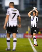 13 August 2019; Dane Massey of Dundalk during the UEFA Europa League 3rd Qualifying Round 2nd Leg match between Dundalk and SK Slovan Bratislava at Tallaght Stadium in Tallaght, Dublin. Photo by Eóin Noonan/Sportsfile