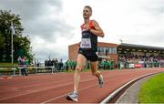 14 August 2019; Niall Shanahan of An Bru AC, Co. Limerick, on his way to winning the 3000m Open Men event sponsored by Leisure World during the BAM Cork City Sports at CIT Athletics Stadium in Bishopstown, Cork. Photo by Sam Barnes/Sportsfile