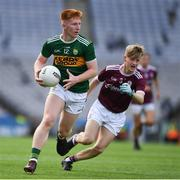 11 August 2019; Darragh Lynch of Kerry in action against Ethan Fiorentini of Galway during the Electric Ireland GAA Football All-Ireland Minor Championship Semi-Final match between Kerry and Galway at Croke Park in Dublin. Photo by Ray McManus/Sportsfile