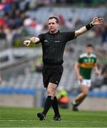 11 August 2019; Referee Martin McNally during the Electric Ireland GAA Football All-Ireland Minor Championship Semi-Final match between Kerry and Galway at Croke Park in Dublin. Photo by Ray McManus/Sportsfile