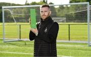 15 August 2019; Jack Byrne of Shamrock Rovers with his SSE Airtricity/SWAI Player of the Month award for July 2019 at the Shamrock Rovers FC academy in Dublin. Photo by Matt Browne/Sportsfile