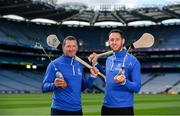 15 August 2019; In attendance at the unveiling of Ballygowan Activ+ as the new Official Fitness Partner of the GAA/GPA are former Tipperary hurler and All-Ireland winner Brendan Cummins, left, and former Kilkenny hurler and All-Ireland winner Michael Fennelly at Croke Park in Dublin. Photo by Sam Barnes/Sportsfile