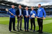 15 August 2019; In attendance at the unveiling of Ballygowan Activ+ as the new Official Fitness Partner of the GAA/GPA are, from left, former Tipperary hurler and All-Ireland winner Brendan Cummins, Paul Staunton, Marketing Controller, Britvic Ireland, Kevin Donnelly, Managing Director, Britvic Ireland, former Kerry Footballer and All-Ireland winner Fionn Fitzgerald and former Kilkenny hurler and All-Ireland winner Michael Fennelly at Croke Park in Dublin. Photo by Sam Barnes/Sportsfile