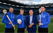 15 August 2019; In attendance at the unveiling of Ballygowan Activ+ as the new Official Fitness Partner of the GAA/GPA are, from left, former Tipperary hurler and All-Ireland winner Brendan Cummins, former Kerry Footballer and All-Ireland winner Fionn Fitzgerald, Kevin Donnelly, Managing Director, Britvic Ireland and former Kilkenny hurler and All-Ireland winner Michael Fennelly at Croke Park in Dublin. Photo by Sam Barnes/Sportsfile