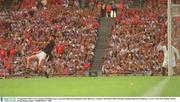 14 September 2003; Cork's Setanta O'hAilpin scores a goal past Kilkenny goalkeeper James McGarry. Guinness All-Ireland Senior Hurling Championship Final, Kilkenny v Cork, Croke Park, Dublin. Picture credit; Damien Eagers / SPORTSFILE