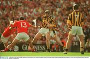 14 September 2003; Henry Shefflin, Kilkenny in action against Cork's Setanta O'hAilpin. Guinness All-Ireland Senior Hurling Championship Final, Kilkenny v Cork, Croke Park, Dublin. Picture credit; Ray McManus / SPORTSFILE