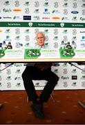 16 August 2019; Republic of Ireland manager Mick McCarthy during his Republic of Ireland squad announcement at Salthill Devon FC in Galway. Photo by Stephen McCarthy/Sportsfile