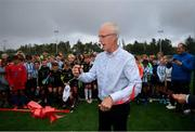 16 August 2019; Republic of Ireland manager Mick McCarthy preforms the official opening of an all-weather pitch at Salthill Devon FC following a Republic of Ireland squad announcement in Galway. Photo by Stephen McCarthy/Sportsfile