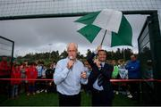 16 August 2019; Republic of Ireland manager Mick McCarthy and Salthill Devon FC chairman Rob Meehan at the opening of an all-weather pitch at Salthill Devon FC following a Republic of Ireland squad announcement in Galway. Photo by Stephen McCarthy/Sportsfile