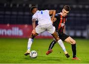 16 August 2019; Darragh Leahy of Bohemians in action against Isaac Akinsete of UCD during the SSE Airtricity League Premier Division match between Bohemians and UCD at Dalymount Park in Dublin. Photo by Sam Barnes/Sportsfile
