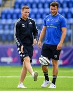 17 August 2019; Rory O'Loughlin, left, and Will Connors of Leinster prior to the Bank of Ireland pre-season friendly match between Leinster and Coventry at Energia Park in Donnybrook, Dublin. Photo by Seb Daly/Sportsfile